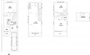 福島区福島8丁目戸建(平面図)